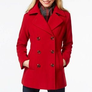 Express Red wool Coat.